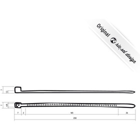 Riesel Design cable:tie 25 stuks, black